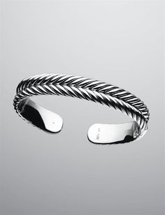 Miss my bracelet, time to buy a new one: David Yurman | Men | Bracelets: 7mm Chevron Cable Cuff