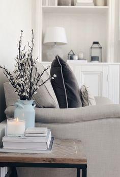 Home Interior Ideas .Home Interior Ideas Living Room Grey, Living Room Interior, Home And Living, Living Room Decor, Small Living, Interior Livingroom, Interior Paint, Modern Living, Interior Ideas