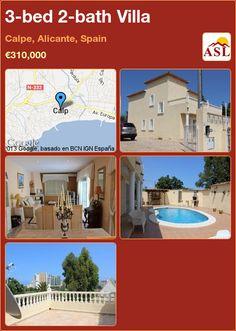 3-bed 2-bath Villa in Calpe, Alicante, Spain ►€310,000 #PropertyForSaleInSpain