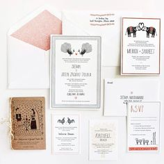 Hand Drawn Icons and Embellishments - Wedding Design Trends 2013