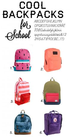 cool backpacks for school
