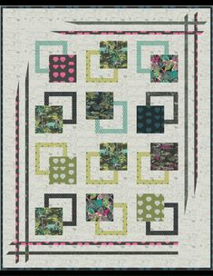 Travels to Esoterra – quilt in AGF Lookbook and free pattern – Mara Quilt Designs