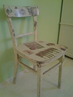 My shabby lavander chair