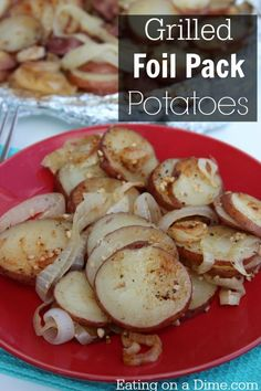 It is so easy to make Foil pack potatoes on the grill. They taste just like camping!