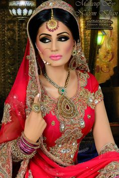 Bridal makeup by Naeem Khan, photography by Zeeshan siddique