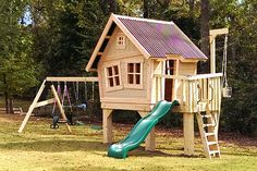 Imagine THAT! Playhouses | Explorer's Treehouse - standalone swings though...
