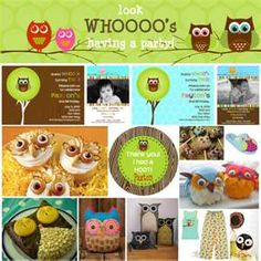 @Angel Baum its everything you need Owl theme party how cute