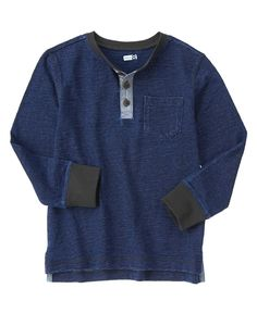 Chambray Trim Henley at Crazy 8
