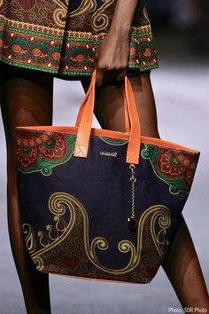 Tribal Print Shopper Bag