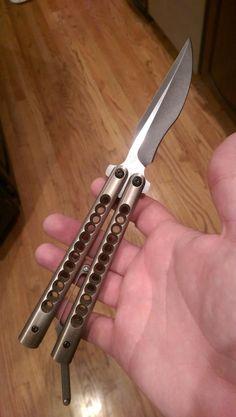 Santiago Pocket Clip Recurve balisong FS