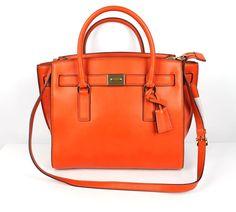 MICHAEL Michael Kors Orange Leather Hamilton Traveler Tote Bag NEW $398 #MICHAELMichaelKors #TotesShoppers