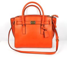 MICHAEL Michael Kors Orange Leather Hamilton Traveler Tote Bag NEW $398 #MICHAELMichaelKors #TotesShoppers