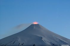 Villarrica volcano | Villarrica volcano at dusk. The smoke … | Flickr - Photo Sharing!