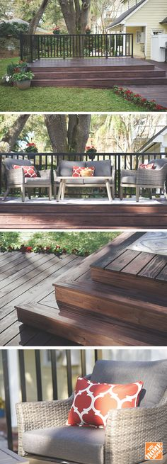 Whether you're building a new deck or upgrading an old one, applying a fresh stain will protect the wood and keep it looking brand new. Get inspired at homedepot.ca. #BackyardProud