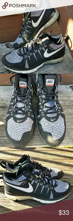 Men's Oreo Air Max TR1 180 Flywire Black & White. In good condition.  Scuffing