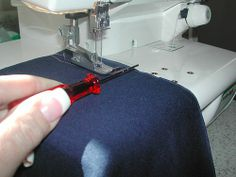 How to end a cover stitch.