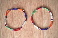 Beaded anklets.