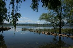 Lago di Varese, Lombardia. Tra i molti laghi situati tra le Alpi e la Pianura Padana, quello di Varese si distingue per le dimensioni ridotte, il pregevole contesto ambientale e per una bella pista ciclabile che lo circonda nella sua interezza.