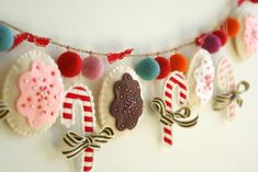 Amy's sweet garland.  So cute and clever.