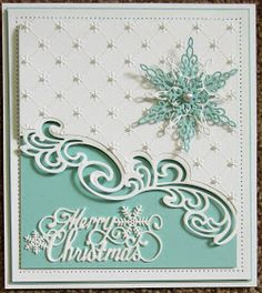 Hello bloggers! What is Christmas without a Merry Christmas die! Complete with beautiful snowflake embellishments, this word die is s...