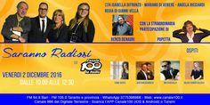 Domani ore 10.00 #SarannoRadiosi  Guarda Online su www.canale100.it Bari FM: 94,9 MHz  Taranto e prov FM 105,00MHz Tel 0805520058 WHATSAPP 3775396968 APP: Canale 100 (iOS e Android) Digitale Terrestre canale 986