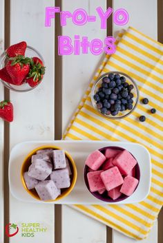 FroYo Bites.  These are creamy, full of fruit and a snack kids love!