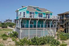 Our Dream Getaway is a Oceanfront vacation rental in Avon. View more info about this Hatteras Island rental or browse our other Outer Banks rentals! Hatteras Realty, Outside Showers, Outer Banks Rentals, Need A Vacation, Beautiful Interiors, Oh The Places You'll Go, Beautiful Places, Mansions, Vacation Rentals