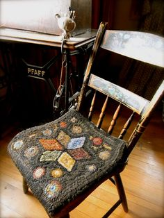 needlework farmhouse white cotton wool linen rug hooking cross stitch garden folk art decor french