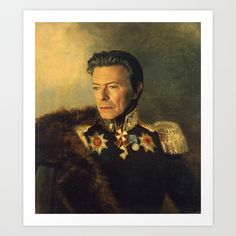 David Bowie - replaceface Art Print by Replaceface | Society6