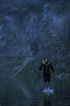 Zakopane. Duds jumpsuit in Tatra mountains. On the photo Andrzej, professional ski alpinist.  Venom black. {duds} from high south