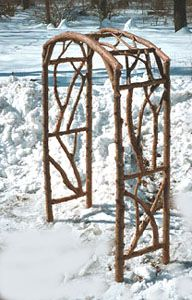 Rustic Arbor- I love this one for our front entrance. We could make something similar (instead of spending $900!!)