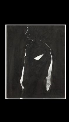 """Nathan Oliveira - """" Dark standing sketch """", 1967 - Ink and graphite on paper - 19 x 16 in. (*)"""