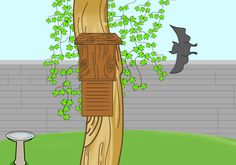 Do you want to care for these small, loving animals? Install a Bat box somewhere in your garden. Preferably on the side of a tree trunk. | The Complete Garden