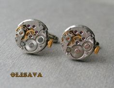 Watch Movement Cufflinks    Steampunk Cufflinks . by Olisava