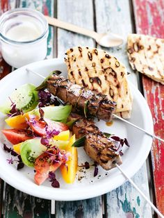 Spiced lamb skewers from the summer 2013 issue