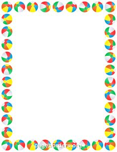 Beach Ball Border
