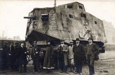 A monstrous A7V German tank. In French hands. The Germans, preferring the development of anti-tank weapons only built a handful.