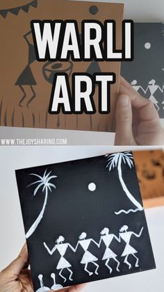 Simple yet elegant warli designs that kids can make. Easy art projects for kids. Drawing Lessons For Kids, Art Drawings For Kids, Art Drawings Sketches, Art Lessons, Drawing Videos For Kids, Worli Painting, Painting For Kids, Fabric Painting, Arte Tribal