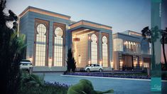 HETEEN PALACE TYPE A on Behance Modern Architecture House, Islamic Architecture, Facade Architecture, Villa Design, Facade Design, Exterior Design, Classic House Design, Dream Mansion, Luxury Homes Dream Houses