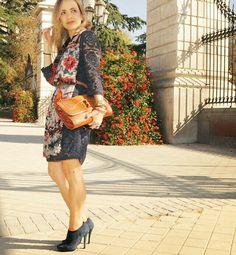 #lacedress #suedeshoes #desigual #scarf #crocobag via @ladytrends #Instagram  www.myladytrends.com