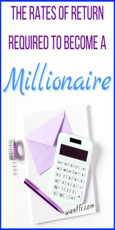 This investing chart shows you how to become a millionaire by how much to invest. #money #investing #millionaire #invest #finance #save #saving