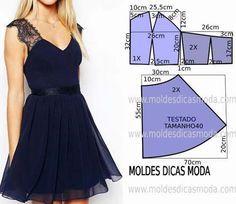 Moldes para hacer vestidos juveniles de moda04