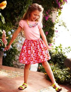 The perfect skirt for summer twirling and 40% off for four days! £13.20 #MiniBoden #Boden