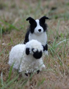Border Collie - Needle felted wool sculpture made to order. $50.00, via Etsy.