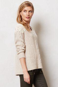 crochet epaulet sweater