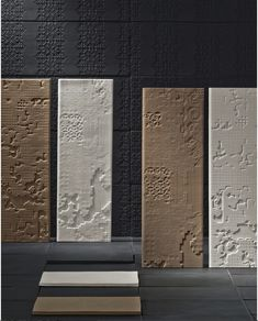 To add depth to any design, this handmade collection is characterized by its unique texture that allows to create subtle compositions or make a bold statement. Product — Bas Relief by @mutinaceramics Patricia Urquiola, Porcelain Clay, Chiaroscuro, Relief, Fireplace Surrounds, Stone Tiles, Interior Walls, Neutral Tones, Ancient Art