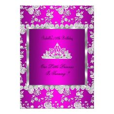 Princess Birthday Party Hot Pink Silver Tiara