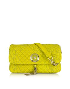 5ec1cd312c4c Versace Lime Vanitas Medea Quilted Barocco Shoulder Bag at FORZIERI Versace  Vanitas