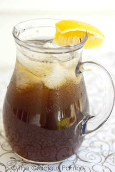 Clean Eating Sweet Tea. A healthier take on this Southern home style favorite! Brought to you by cookbook author Tiffany McCauley of TheGraciosuPantry.com.