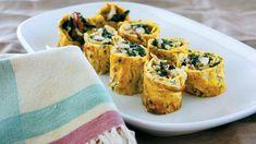 Crab and spinach frittata rolls (rotolini di granchio e spinaci) recipe : SBS Food